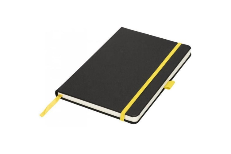 Journalbooks A5 Lasercut Notebook (Solid Black/Yellow) (One Size)