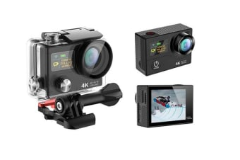 "4K Ultra Hd Wifi Sports Action Camera 2"" Lcd Video Remote H3R Black"