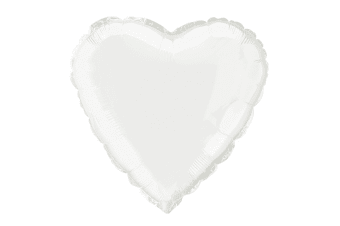 Unique Party 18 Inch Heart Shaped Foil Balloon (White)