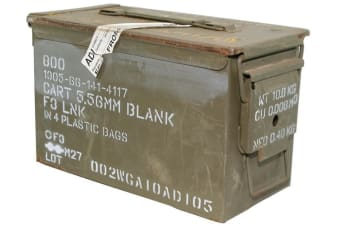M2a1 Ammo Box Ammunition Steel Tool Box (army Used)