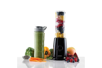 Heller 240W Superfoods 2 Go Mini Blender w/ 2x 500ml BPA-Free Plastic Cup/Bottle