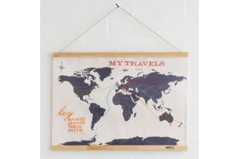 Cross Stitch Map: Stitch Your Travels Around The World! | Suck UK