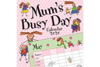 Mum's Busy Day - 2020 Wall Calendar 16 month Premium Square 30x30cm (F)