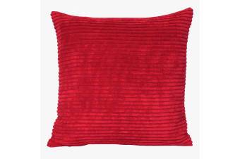 Riva Home Corduroy Cushion Cover (Red) (45x45cm)