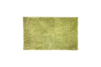 Bambury Microplush Range - Rubber Backed - Bath Mat - 50 x 80cm - Wasabi