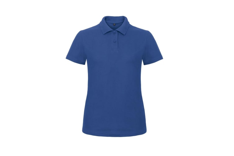B&C Womens/Ladies ID.001 Plain Short Sleeve Polo Shirt (Royal Blue) (XL)