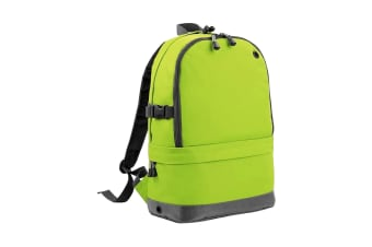 BagBase Backpack / Rucksack Bag (18 Litres Laptop Up To 15.6 Inch) (Pack of 2) (Lime Green) (One Size)