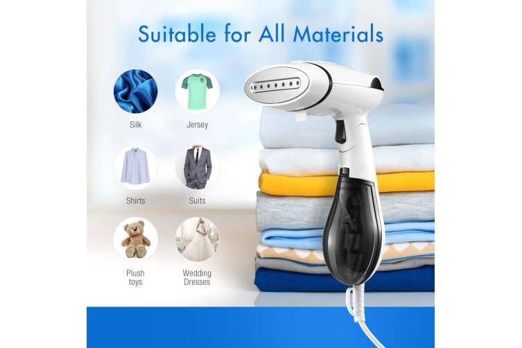 Portable Handheld Clothes Garment Fabric Steamer Black-1300W