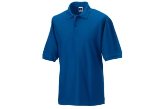 Russell Mens Classic Short Sleeve Polycotton Polo Shirt (Bright Royal)