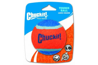 Fantastic Large Chuck It  Red & Blue Tennis Ball Dog Toy 1 Pack - 8cm (ChuckIt)