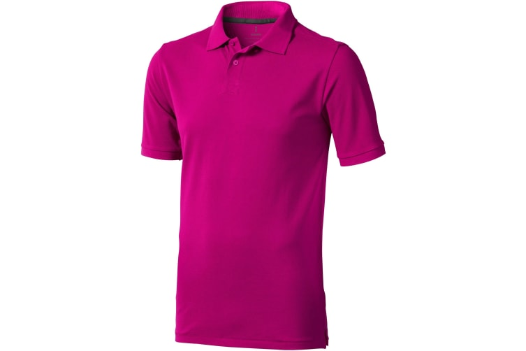 Elevate Mens Calgary Short Sleeve Polo (Pack of 2) (Pink) (XL)