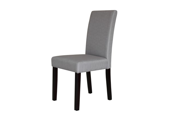 2 X Premium Fabric Linen Palermo Dining Chairs High Back