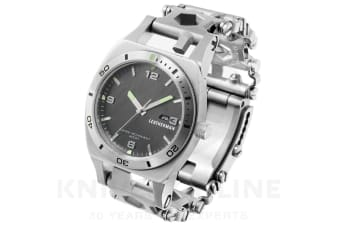 NEW LEATHERMAN STAINLESS STEEL TREAD TEMPO WATCH TIMEPIECE GIFT BOXED