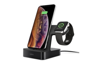 Belkin PowerHouse Charge Dock for Apple Watch & iPhone - Black (F8J237AUBLK)