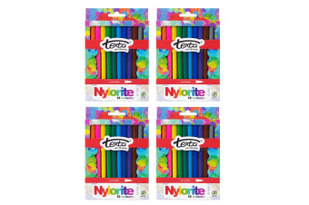 4x 12pc Texta The Original Nylorite Coloured Drawing Kids Markers Art Water Base