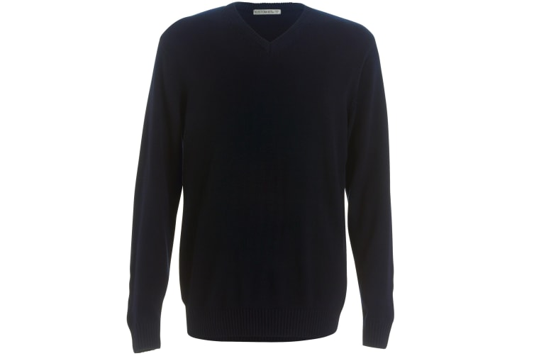 Kustom Kit Mens Heavyweight Arundel Sweater (Navy) (S)