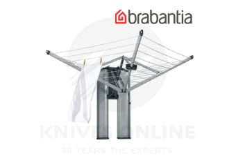 BRABANTIA 24M WALL FIX FOLD AWAY ROTARY CLOTHES LINE STORAGE BOX WALL MOUNT