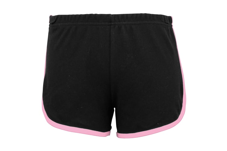 American Apparel Womens/Ladies Cotton Casual/Sports Shorts (Black / Pink) (S)