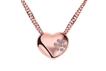 Valentine Necklace-Rose Gold/Clear