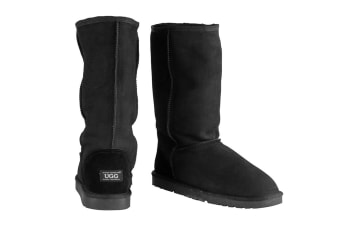 OZWEAR Connection Classic Long Ugg Boots (Black)