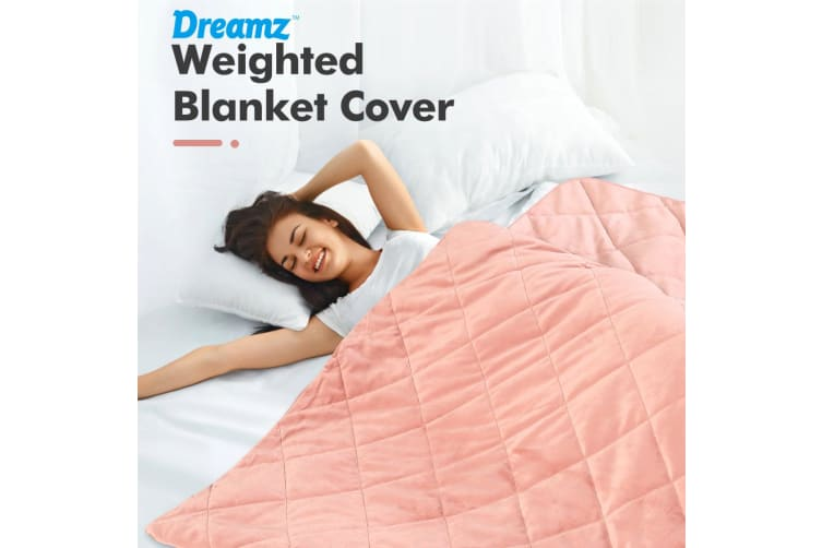 Dreamz Minky Zipper Cover for Weighted Blanket Washable Protector Kids Adult