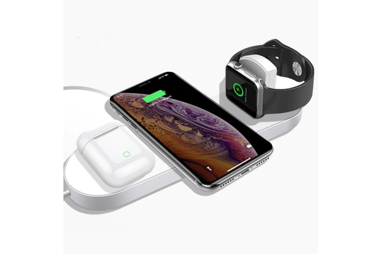 Orotec Mini Air Power 3 in 1 Wireless Charger f/Apple iWatch & Qi Enabled Mobile