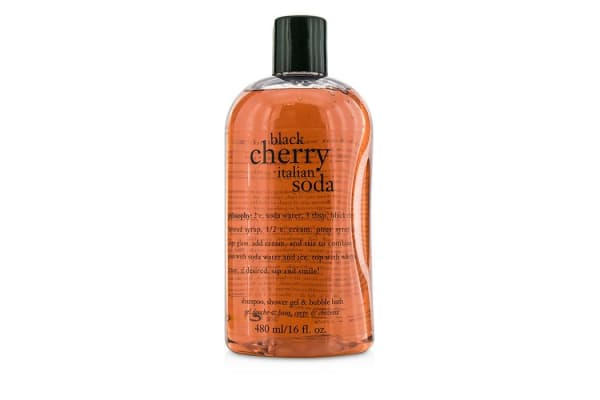 Philosophy Black Cherry Italian Soda Shampoo, Shower Gel & Bubble Bath (480ml/16oz)