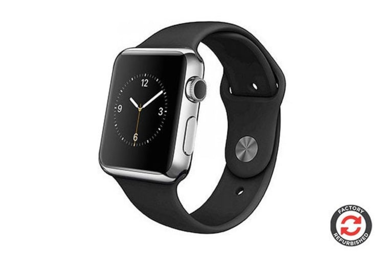 Apple Watch Series 1 Refurbished (Silver, Stainless Steel, 38mm, Sports Band) - AB Grade