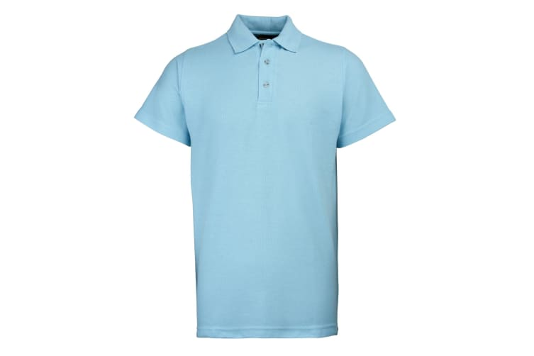 RTY Workwear Mens Pique Knit Heavyweight Polo Shirt (S-10XL) / Extra Large Sizes (Sky) (4XL)