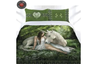 Anne Stokes Pure Heart Quilt Cover Set Queen