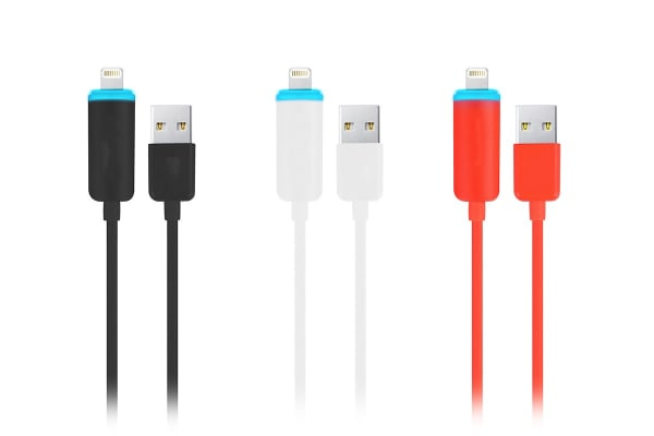 3 Pack Kogan Lightning to USB Smart Charging Cable