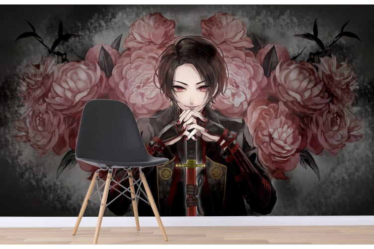 3D Suit Red Eyes 50 Anime Wall Murals Woven paper (need glue), XXL 312cm x 219cm (WxH)(123''x87'')