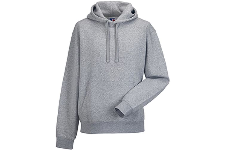 Russell Mens Authentic Hooded Sweatshirt / Hoodie (Light Oxford) (2XL)