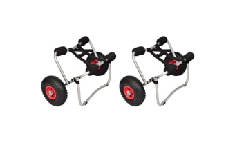 vidaXL Kayak Trolleys 2 pcs Aluminium