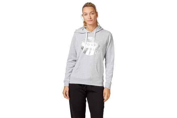 Saucony Run Your World Circle Hoody Jumper (Grey, Size XS)