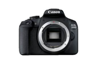 New Canon EOS 2000D Body Digital SLR Camera Black (FREE DELIVERY + 1 YEAR AU WARRANTY)