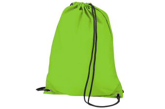 BagBase Budget Water Resistant Sports Gymsac Drawstring Bag (11L) (Lime Green)