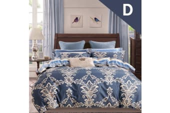 Double Size Su Tiya Design Quilt Cover Set