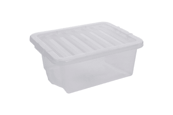 Wham Crystal Storage Box with Lid (Clear) (One Size)
