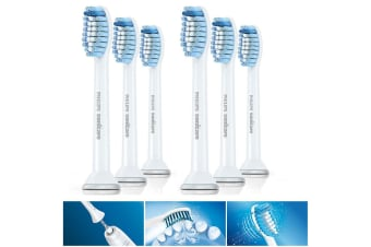 6PC Philips HX6053 Sonicare Sensitive Replacement Heads for Electric Toothbrush