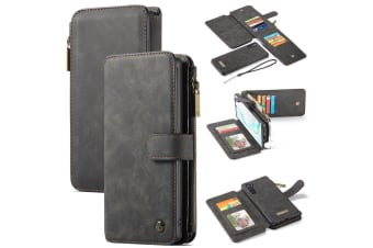 For Samsung Galaxy Note 10 Case  Wallet PU Leather Detachable Flip Cover  Black