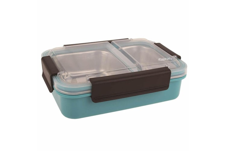 Oasis 23cm Stainless Steel Lunch Box Food Lunchbox Storage Container Turquoise
