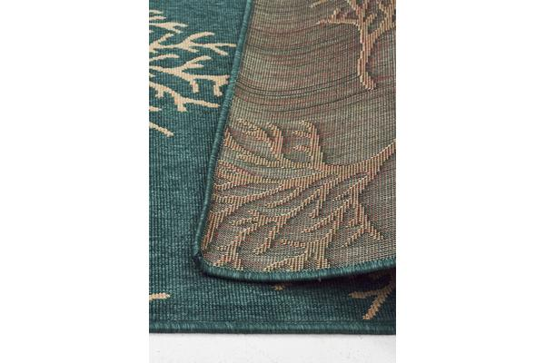 Coral Reef Turquoise Outdoor Rug 220X150cm