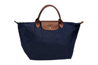 Longchamp Le Pliage Top-Handle Handbag (Medium, Navy)