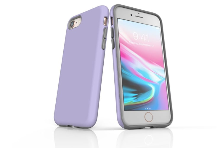 Lavender For iPhone 8 Tough Case  Protective Back Cover