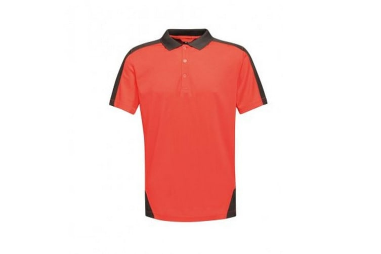 Regatta Contrast Coolweave Pique Polo Shirt (Classic Red/Black) (3XL)