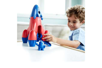 Green Toys Rocket with Blue Top