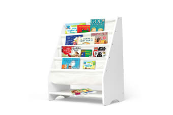 Kids Bookshelf Wooden Magazine Bookcase Storage Display Stand Rack