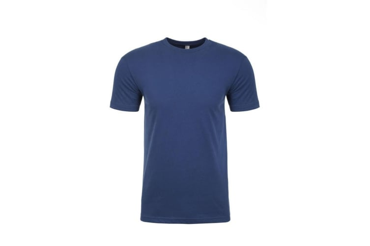 Next Level Adults Unisex Suede Feel Crew Neck T-Shirt (Cool Blue) (XL)