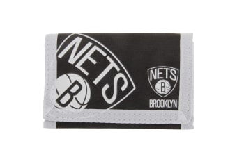 Brooklyn Nets Official NBA Basketball Crest Wallet (Black/White)